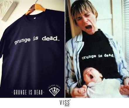 Remera Estampada Grunge Is Dead - Kurt Cobain