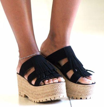 Sandalia Sueco Zapato Plataforma Alta Mujer Verano Moda 2017