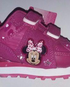 Zapatillas Disney Niña Minnie Mouse Con Luces Fucsia Envios