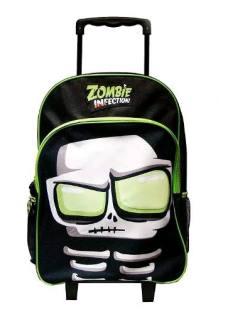 Zombie Infection Mochila Escolar 17 Carro Brilla Hueso T17d