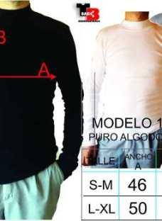 Media Polera Adaptable 100% Algodon Tejido Con Rebote