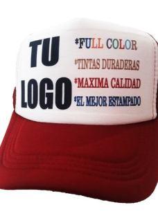 Gorras Trucker Personalizadas Logo Negro Azul Bordo Celeste