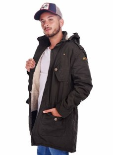 Customs Ba Camperas Hombre Parka Corderito Campera Negra Us