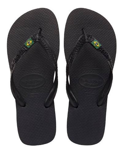 Zonazero Havaianas Ojotas Brasil Negro Unisex Originales