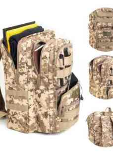 Mochila Tactica Molle Impermeable Camping Viaje Hombre Mujer