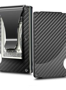 Billetera Slim Aluminio Clip Tarjetero Elastico + Cuotas