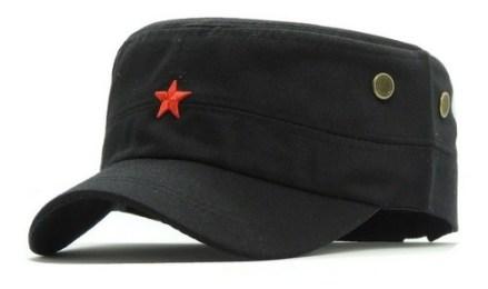 Gorra Che Negra Lisa Estrella Cuba Militar Visera Corta Gaba