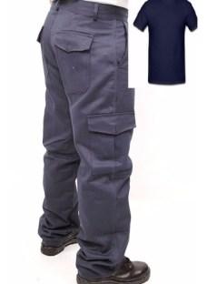 Pantalon 6 Bolsillos Cargo Con Remera ALG. C/ I