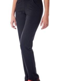 Pantalon Vandalia Recto Rustico Deportivo Mujer Negro