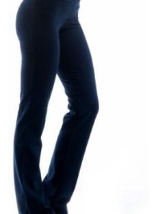 Calza Recta Negra Gris Especial Mujer Faja Fitness Talle 8