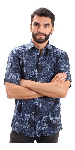 Camisa Manga Corta Hawaiana De Fibrana Hombre Del S Al Xxl