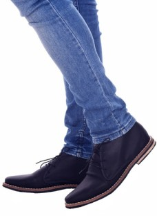 Customs Ba Zapatos Hombre Botitas Vestir Botas Cuero Ec