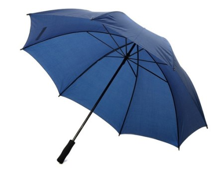 Paraguas Gigante Azul Marino Reforzado Mango De Goma