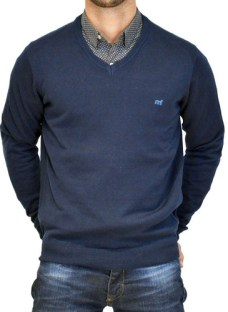 Sweater Pullover Algodón Cuello V Hombre Mistral Moda