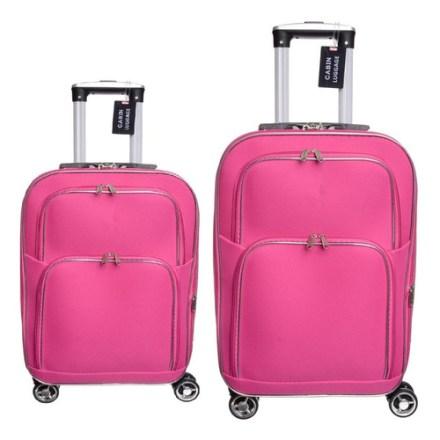 Set X 2 Valijas ( Chica Carry On Y Mediana ) Tela Reforzada