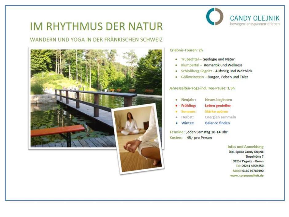 Im Rhythmus der Natur - Wandern und Yoga in der Fränkischen Schweiz