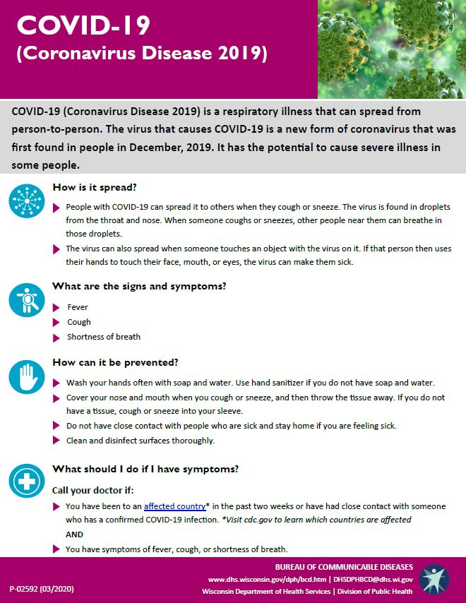 Coronavirus Information | Dodge County, WI