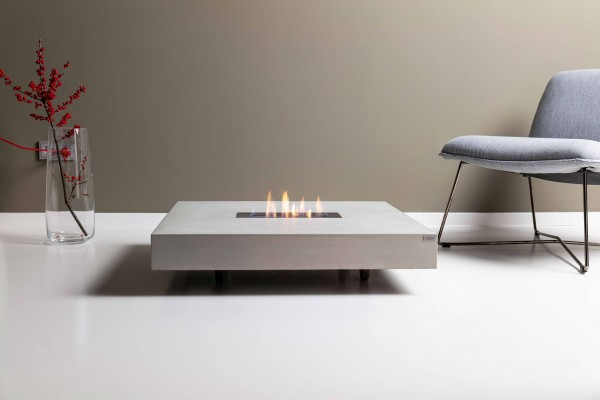 tabula ignis concrete lounge table with fireplace