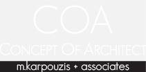 CONCEPT OF ARCHITECT M.KARPOUZIS & ASSOCIATES