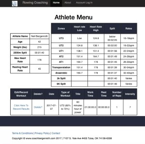 Rowing Coaching - Rowing Workout Database