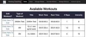Rowing Coaching - Online Database of Rowing Workouts