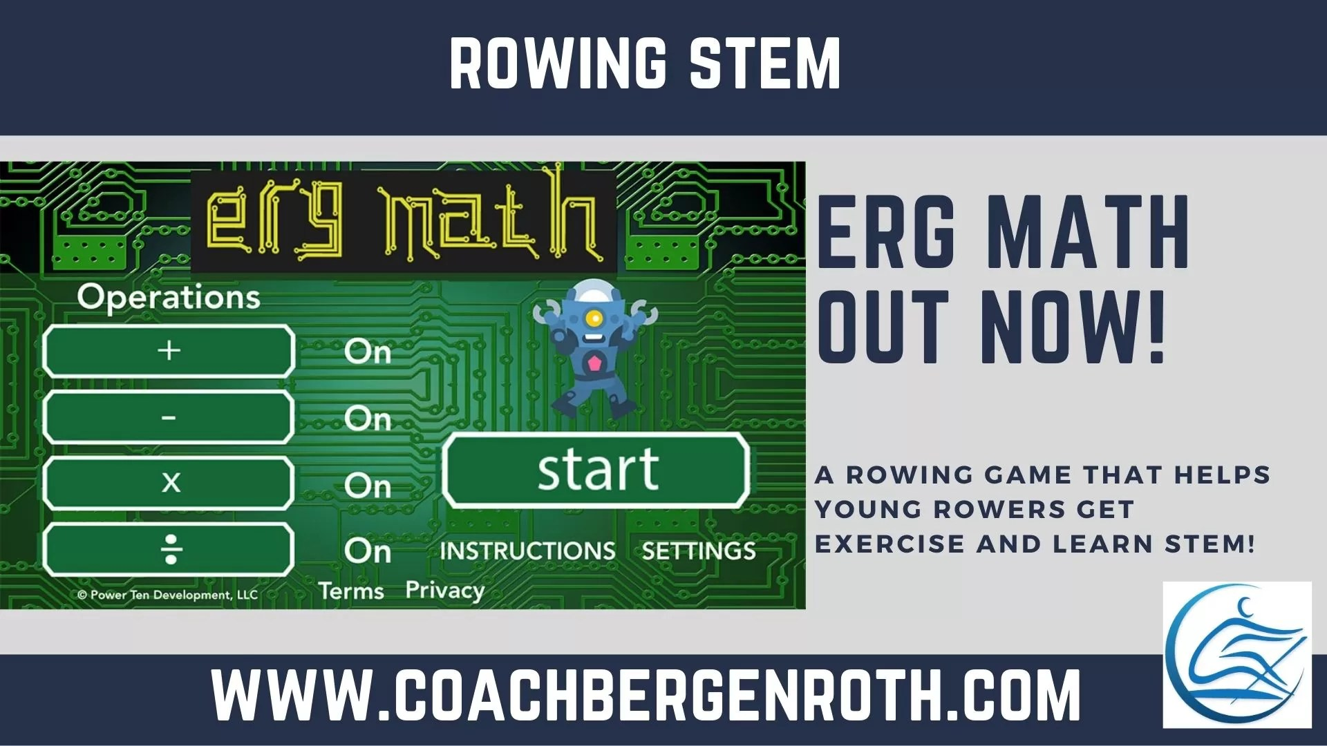 erg math rowing game app