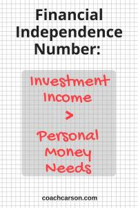 Financial Independence Number