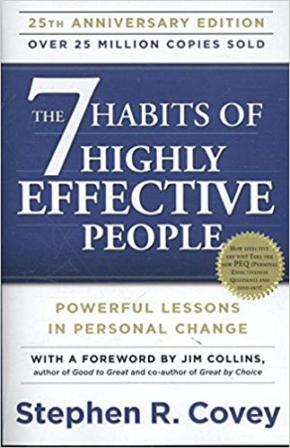 Book Cover - The 7 Habits of Highly Effective People by Stephen R Covey