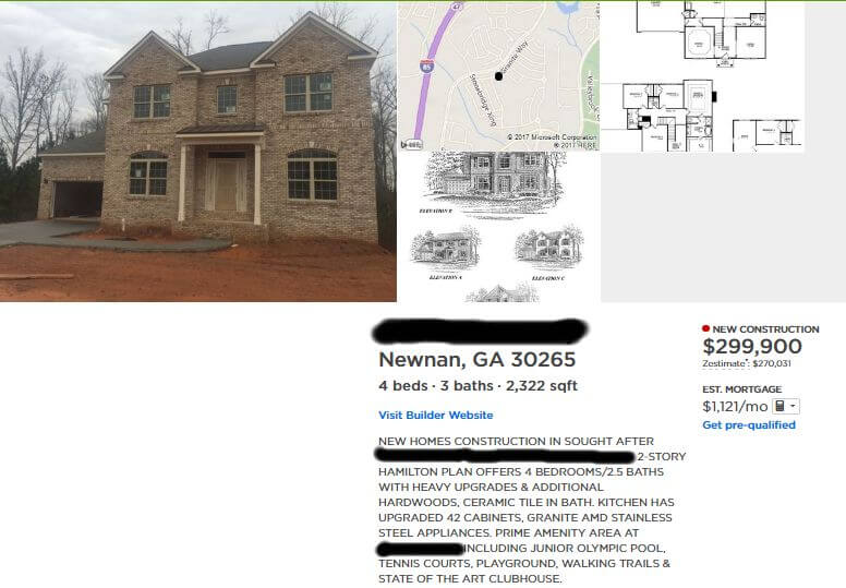 Dream home example Zlllow Listing - The Housing Battle - Dream Home vs House Hacking