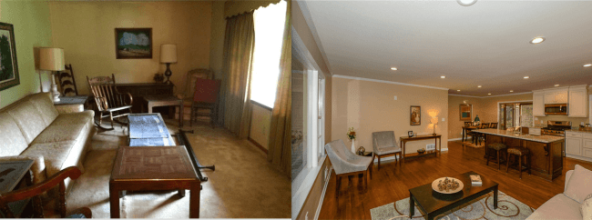 before and after pictures of fix-and-flip deal