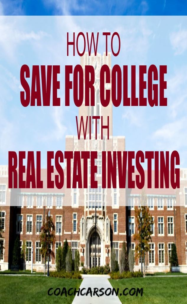 How to Save For College With Real Estate Investing - Pinterest image