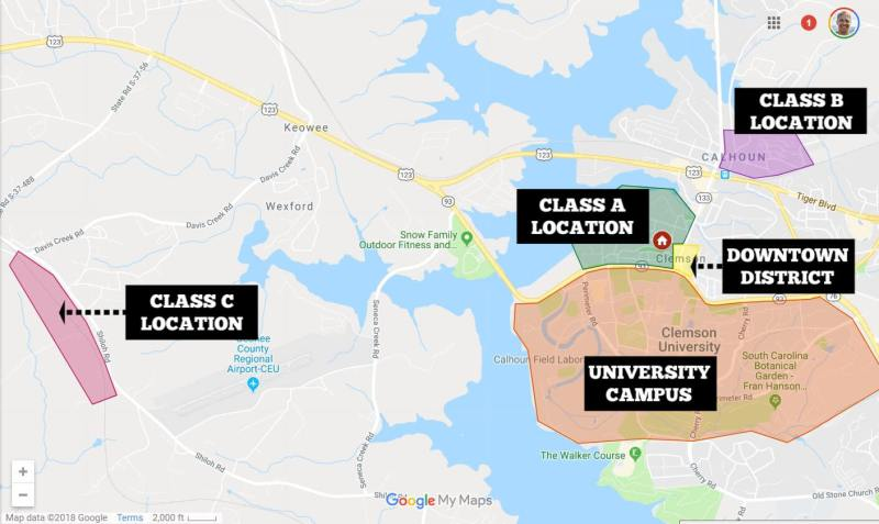 Map of Class C location - Where to Buy an Investment Property