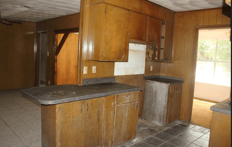before kitchen - real estate success story