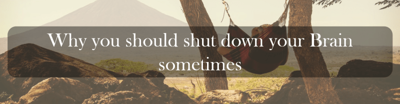 Why you should shut down your Brain sometimes