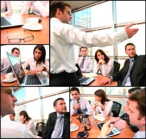 Patchwork de situations de bureau