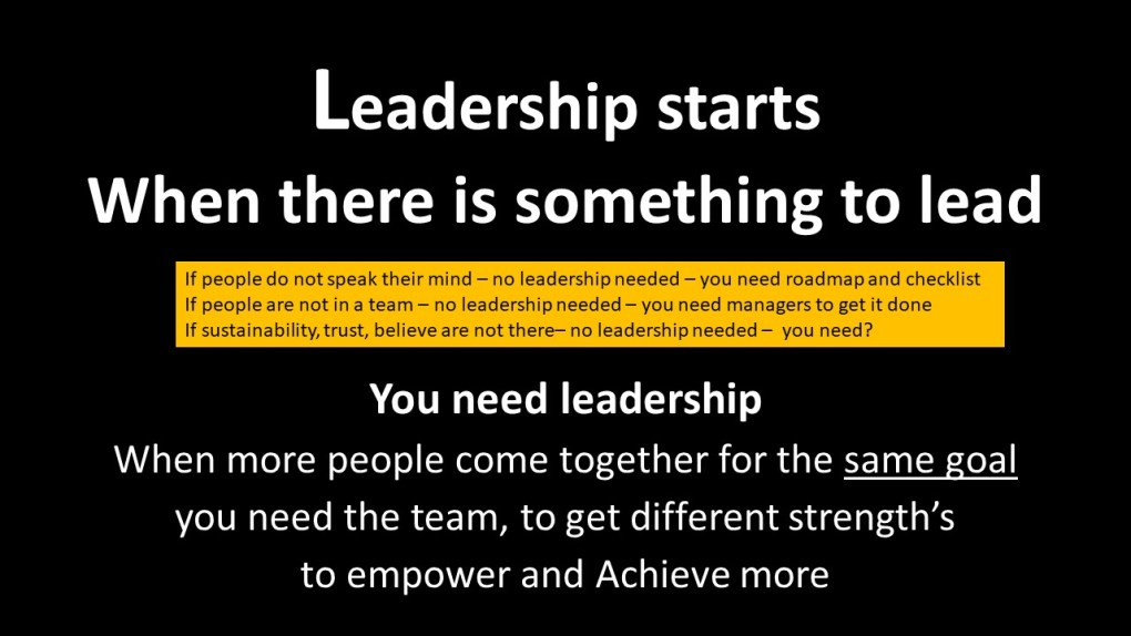 Leadership How to perform excellently