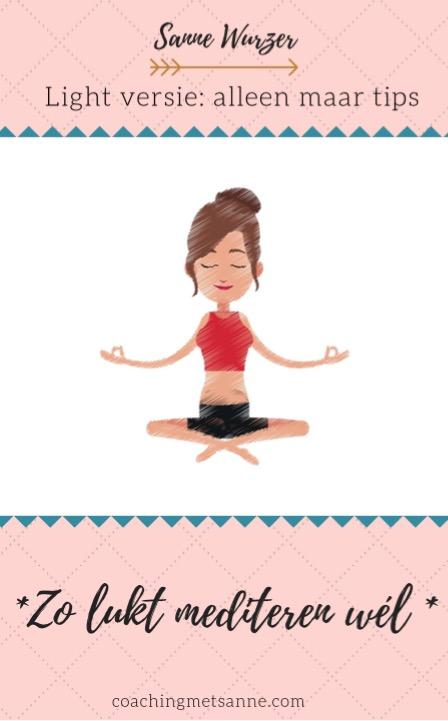 Zo lukt mediteren wél, light versie. E-book Sanne Wurzer