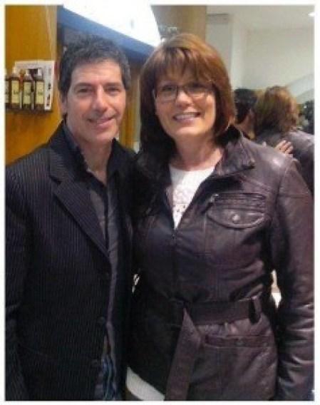 Giancarlo Fornei con Marisa Macchi di Radio Capodistria, dopo una conferenza tenuta a Trieste a marzo 2014 - presso il Salone di Acconciature di Caterina D'Amico