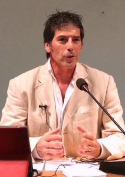 Giancarlo Fornei durante una sua conferenza a Verona - settembre 2014