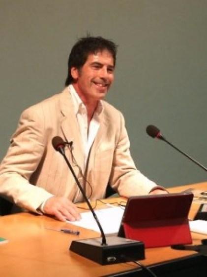 Giancarlo Fornei, durante una sua conferenza a Verona - settembre 2014