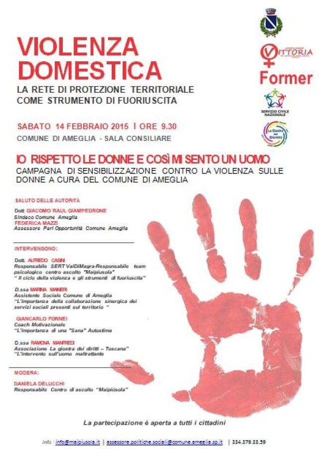 convegno febbraio contro Violenza Donna Ameglia