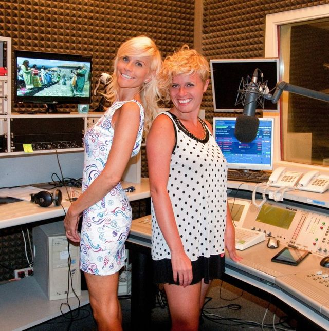 Mapi Danna e Vanessa Grey a Radio Reporter (ph Savino Roca)...