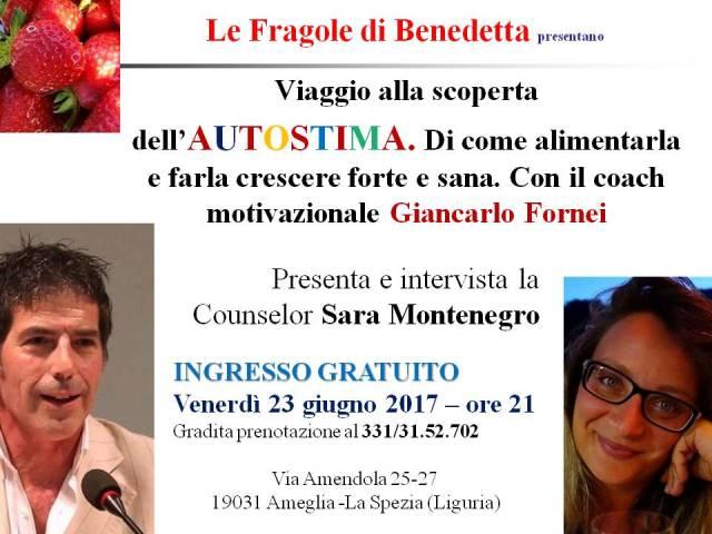 Ameglia conferenza autostima - Le Fragole di Benedetta 23 giugno 2017