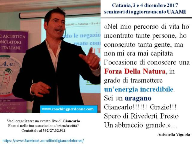 UAAMI Catania 3 e 4 dicembre 2017 - la recensione di Antonella Vignola dopo aver partecipato ai seminari di Giancarlo Fornei