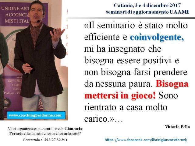 UAAMI Catania 3 e 4 dicembre 2017 - la recensione di Vittorio Bello dopo aver partecipato ai seminari di Giancarlo Fornei