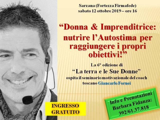 Autostima - Sarzana 12 ottobre 2019 - conferenza di Giancarlo Fornei alla Fortezza Firmafede - video
