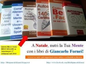 A Natale regala i libri del coach motivazionale Giancarlo Fornei! Leggi e regali libri. Aprono la mente e ti aiutano ad apprendere cose nuove.