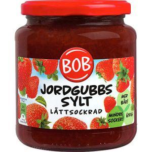 jordgubbssylt-lattsockrad-610g-bob