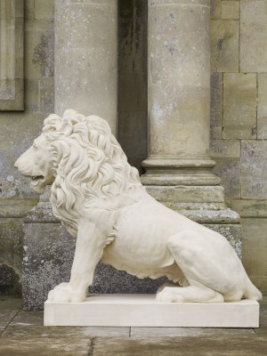 Sejant Lion Pair