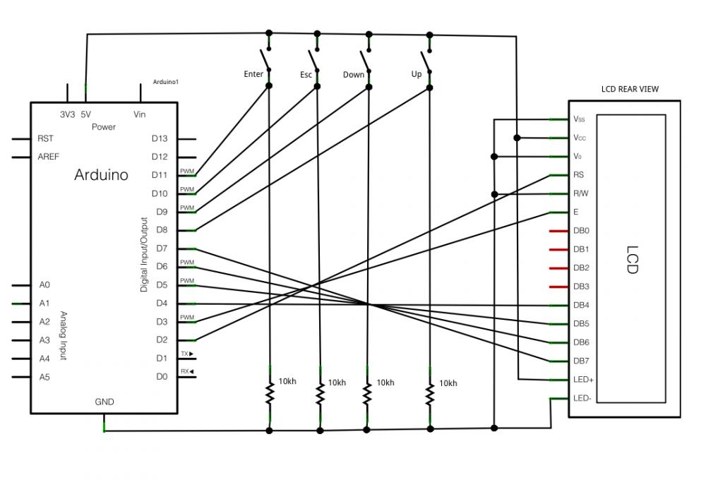 my room schematic diagram lcd 2x16